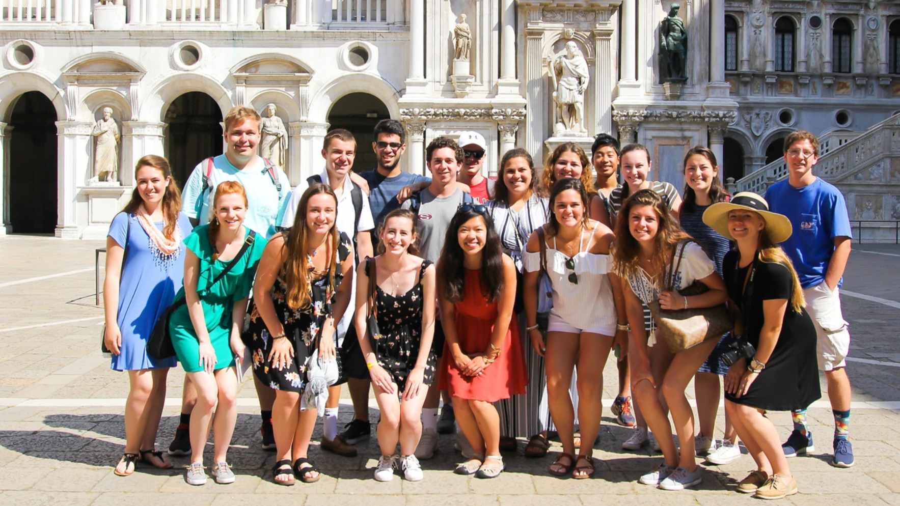 Students studying in Rome
